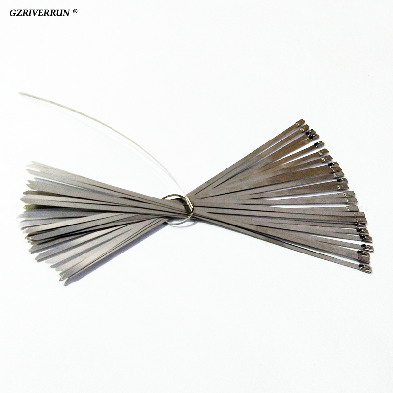 GZRIVERRUN Zip Slips Rustfrit stål 300x5mm 25st stropper passer til motorcykel bil Auto Udstødning Header Wrap eller House Garage Reparation
