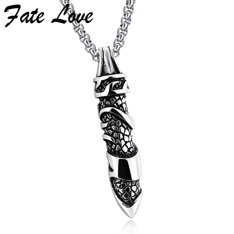 2017 Fashion Men Necklace Stainless Steel Jewelry Vintage