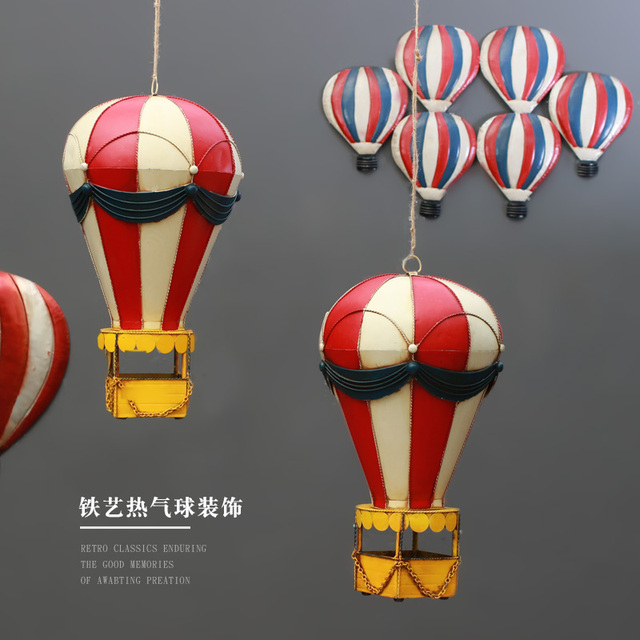 Creative American Retro Industrial Wind Wall Decoration Hot Air