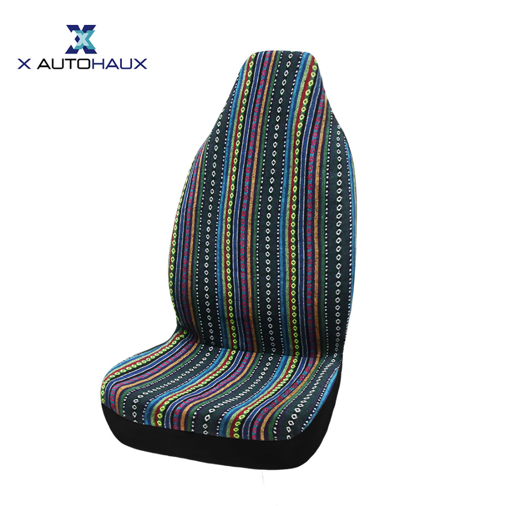 <font><b>X</b></font> Autohaux One Piece Of Automotive Baja Blanket Universal Bucket Seat Covers For Car Truck SUV Automobiles Deco Car Seat Covers