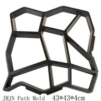 43x43x5 cm DIY Plastic Path Maker Mold Manually Paving Cement Brick Molds Stone Road Concrete Molds Tool For Garden Pavement