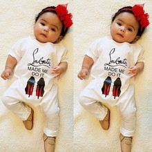 Baby Boy Girls Letter Rompers Long Sleeve Cotton Jumpsuit Ba