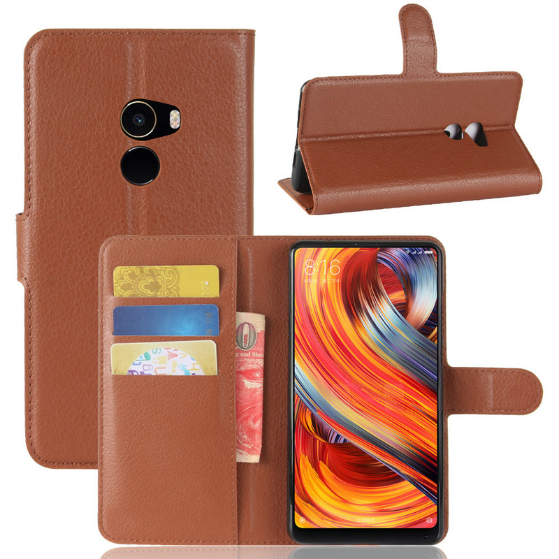 WIERSS Flip Leather Case cover for <font><b>Xiaomi</b></font> <font><b>Mi</b></font> <font><b>Mix</b></font> <font><b>2</b></font> Mix2 Evo 6GB 8GB 64GB <font><b>128GB</b></font> 256GB phone Cover Wallet case shell+Card image