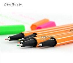 1pc pincel de tinta alemão stabilo fibra caneta ponto neon fluorescente cor esboço arte marcador 5 cores disponíveis dp010