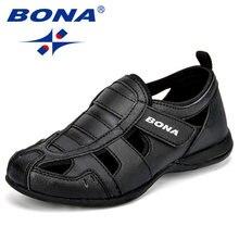 BONA New Arrival popularny styl dzieci obuwie syntetyczne haczyk i pętla chłopcy letnie buty wycięcia buty rekreacyjne
