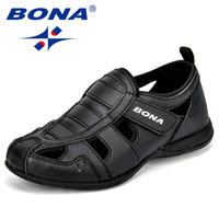 BONA New Arrival Popular Style Children Casual Shoes Synthetic Hook & Loop Boys Summer Shoes Cutouts Outdoor Leisure Shoes