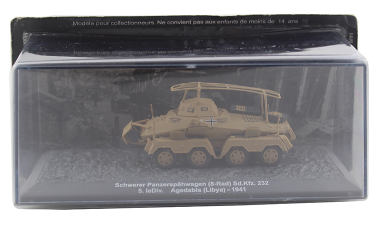 IXO 1/72 Sd.kfz.232 German model of the 8 round of radio armored reconnaissance vehicle Alloy collection model Holiday gift 1 30 wwii german mechanized forces captured the urban combat scenarios alloy model suits the scene fm