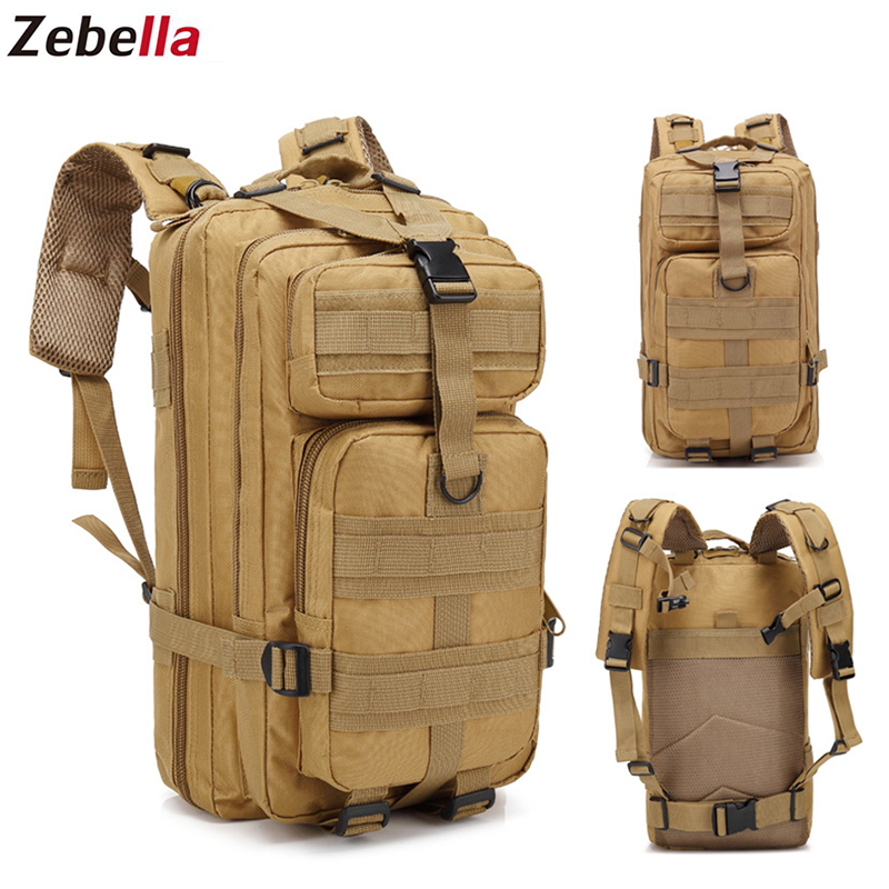 Zebella Men Backpack Travel 30L Outdoor Military Tactical Camping Army Sport Rucksack Hiking Bag