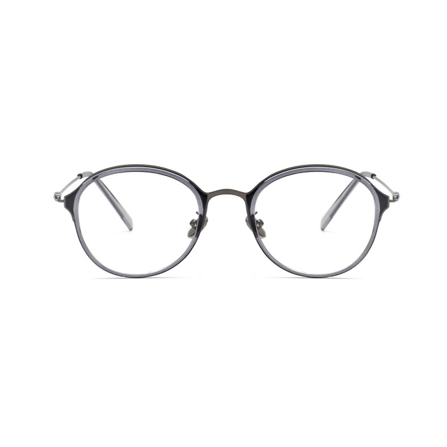 G-Лес очки рамки мужчины круглый металлический каркас очки ретро оптические очки женщины оптические очки по рецепту 51109