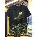 2017 лето хип-хоп Камуфляж Сращивания футболка brand clothing от белого Вергилий Abloh хлопок мужчины караваджо печать футболки