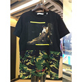 2017 summer hip hop Camouflage Splicing t shirt brand clothing off white Virgil Abloh cotton men caravaggio print tee shirts