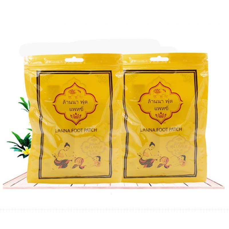 10pcs/bag Detox Foot Pads Patches Improve Sleep Remove Toxin Thailand LANNA Foot Adhesive Sheets Dispelling Cold Plaster L4 meiyanqiong 20pcs lot detox foot patches pads nourishing repair foot patch improve sleep quality slimming patch loss weight care