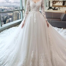 cecelle robe de A-line Wedding Dress With Long Sleeves