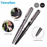 Tenvellon Self Defense Tactical Pen Black Gray Color Simple Package Personal Emergency Defense Tool Security Protection EDC Tool
