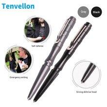 Tenvellon auto defesa caneta tática preto cinza cor simples pacote pessoal ferramenta de defesa emergência proteção segurança edc ferramenta