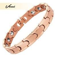 Vivari Bio 2018 Unisex Stainless Steel Bracelet For Women 99.99999% Solid Germanium Far Infra Red Gold Bangle Wristband Charm