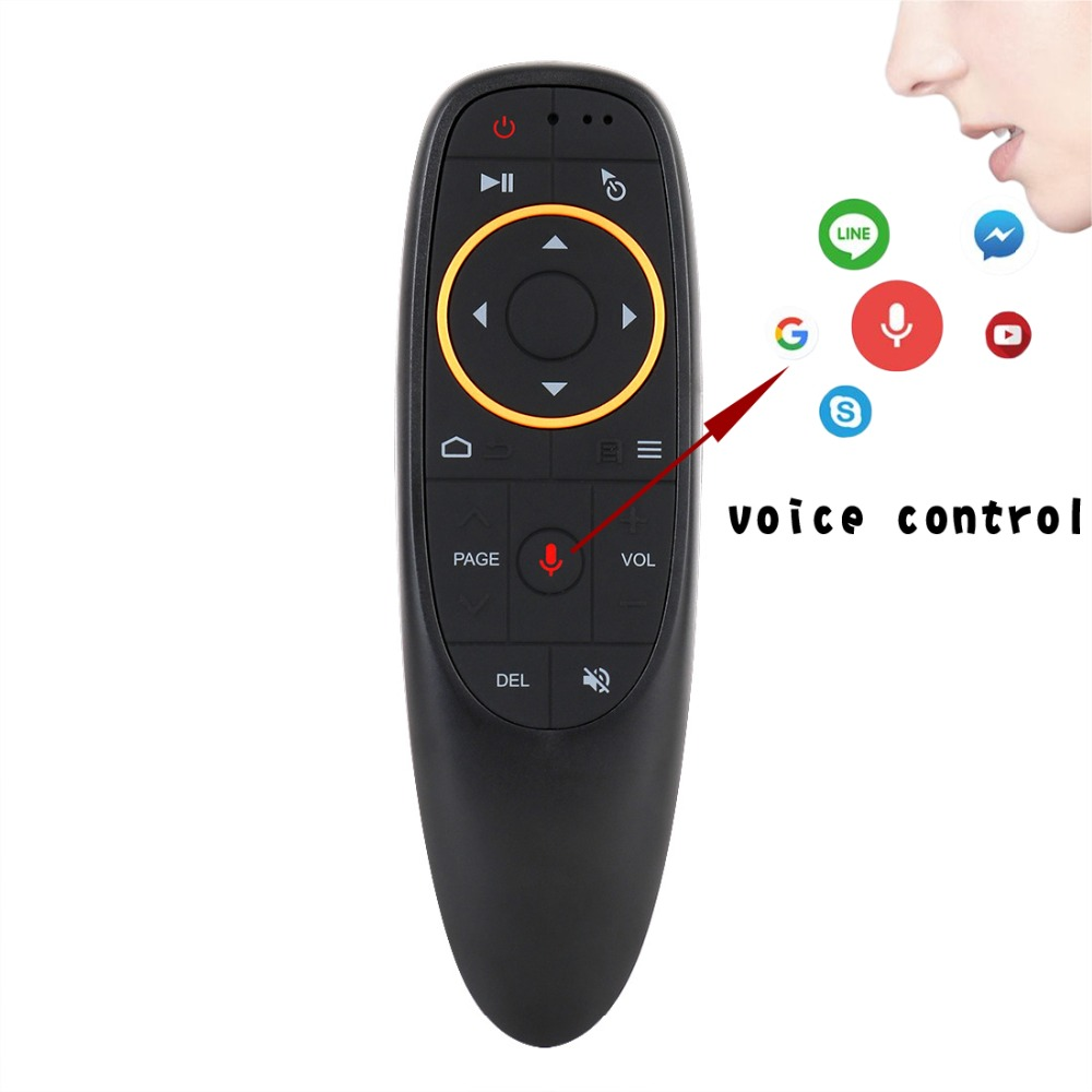 G10 Voice Air Mouse With USB 2.4GHz Wireless 6 Axis Gyroscope Microphone IR Remote Control For Smart Tv,Android Box,PC PK W1 MX3(China)