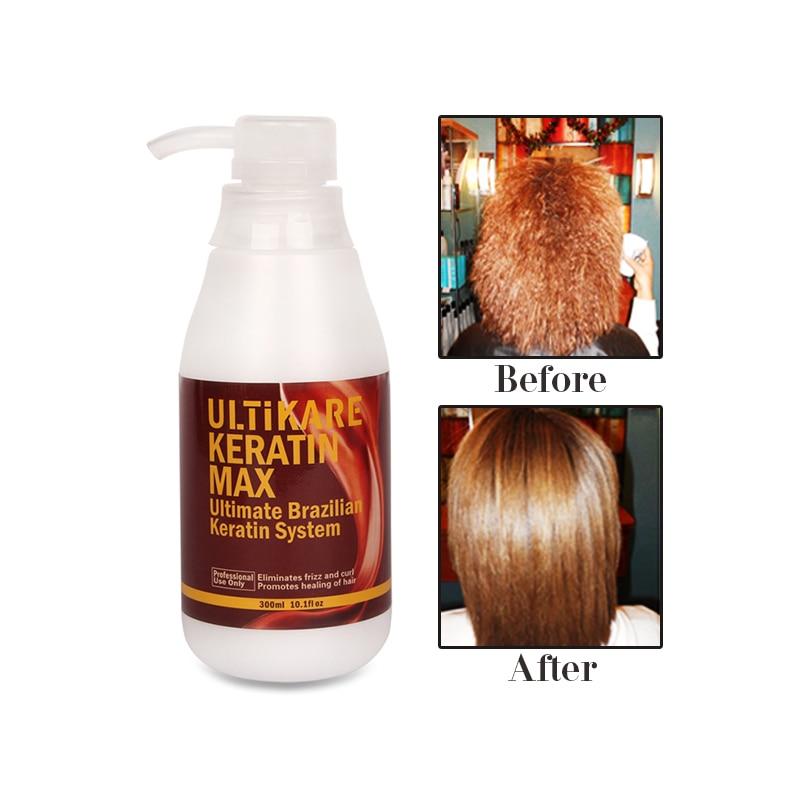 Купить с кэшбэком 300ml Purifying Shampoo+300ml Brazilian Keratin Hair Treatment 12% Formalin Straighten Resistant Hair+Free Gifts Free Shipping