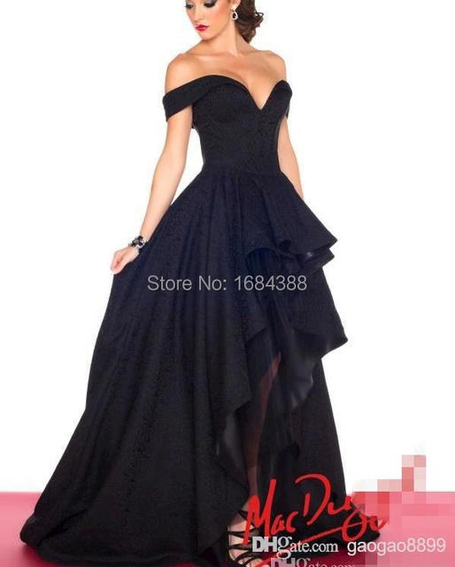 7d35eb9a6ed7 2015 Cheap Evening Prom Dresses Off Shoulder Navy Blue Hi Lo Red Carpet  Celebrity Dress Party Gowns India Arabic Myriam Fares