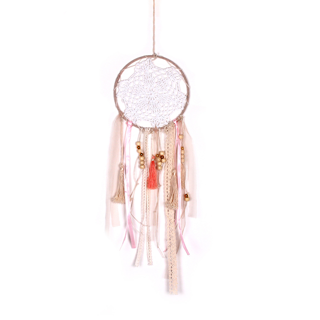 Us 4 46 36 Off Hot Home Indian Style Wood Bead Pendant Dream Catcher Dreamcatcher Wall Art Ornament Hanging Decor Supplies In Wind Chimes Hanging