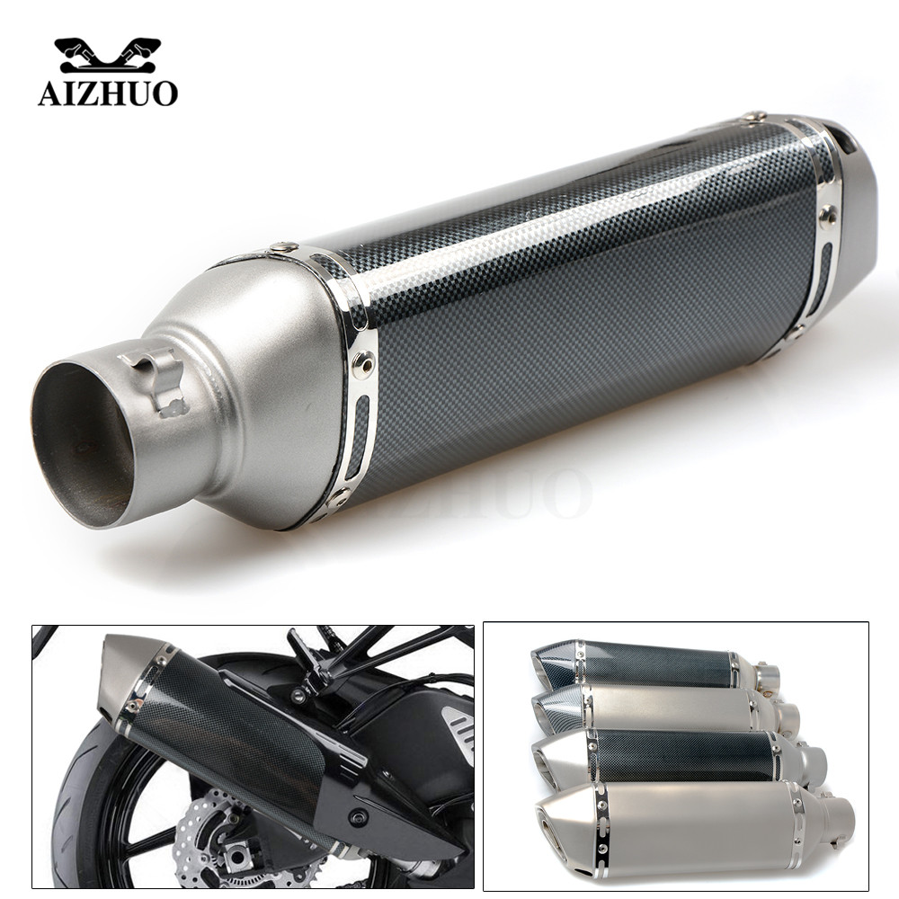 Motorcycle Exhaust pipe Muffler Escape DB-killer 36MM-51MM FOR SUZUKI 600/750 KATANA DR 650 S GSXR1300 B-KING GSX-S1000 36 51mm universal cnc motorcycle exhaust pipe with muffler for suzuki hayabusa gsxr1300 gsxr 1300 gsx s1000 gsx s1000f abs