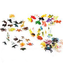 Symulacja Sea Life figurki zwierząt 6-10CM pcv rysunek kolekcjonerskie zabawki Anime figurki figurki dla dzieci tanie tanio Model Unisex Other None others 6 lat Wyroby gotowe TQT34 Zapas rzeczy 1 60 Zwierzęta Żołnierz gotowy produkt