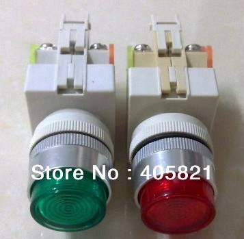 LAY37-11D/ Y090-11D Momentary Flush Push Button With Pilot lamp 1N/O+1N/C 22MM Spring ReturnAC380V 220V110V /DC24V 12V 6V