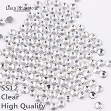 A+DMC Hotfix Rhinestone SS12 Size 1440pcs/bag White Clear Crystal Color DIY Hot Fix Stones HT0112