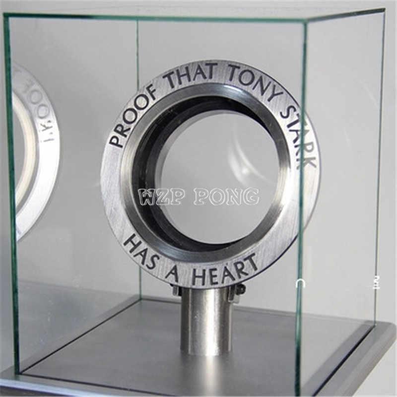 Nueva caja de exhibición de generación de Reactor Iron Man Ark modelo luminoso conjunto de carcasa transparente con Base de corazón
