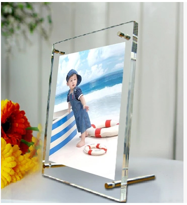 6 Inch Screw Acrylic Picture Photo Frames for photo,signage ,certificate