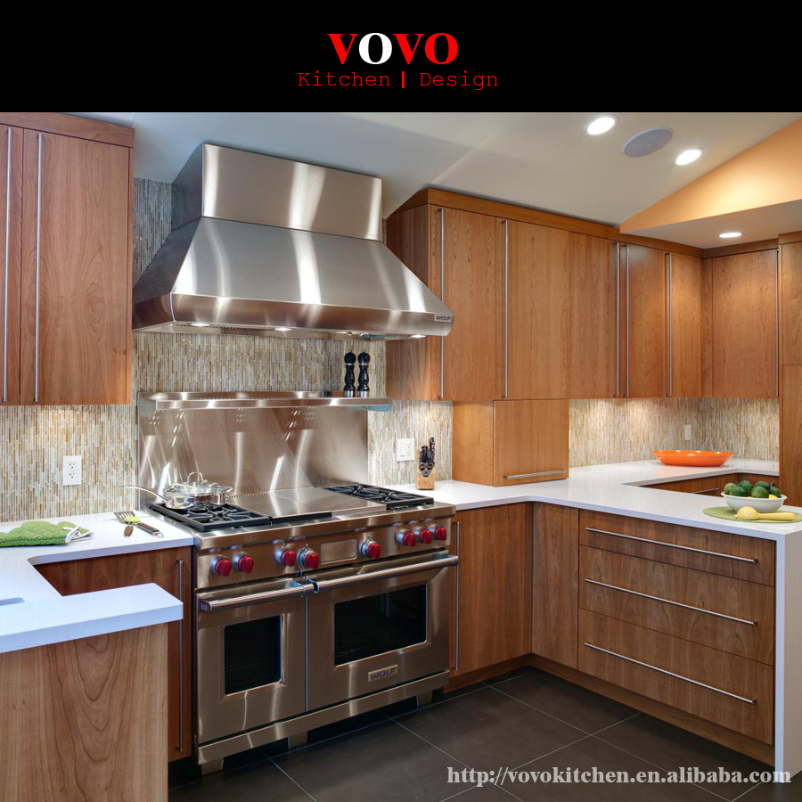 Unfinished Wood Kitchen Cabinets Wholesale: Wholesale L Shape Solid Oak Wood Kitchen Cabinet-in