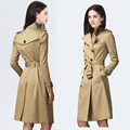 Double Breasted Brand Trench 2017 Women Long Sleeve OverCoat manteau femme hiver casaco feminino doudoune femme Plus Size XXXL