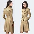 Double Breasted Brand Trench 2017 Women Long Sleeve OverCoat manteau femme hiver casaco feminino doudoune femme Plus Size XXXL