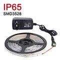 Водонепроницаемый IP65 СВЕТОДИОДНЫЕ Полосы Света 5 М 300 Светодиодов 3528SMD 12 В 2A Питания Гибкие Светодиодные Праздник Рождество Украшения лампы Свет