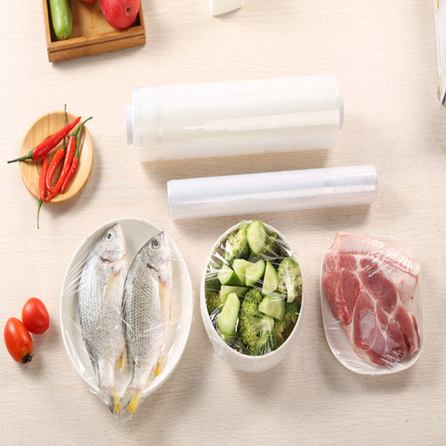 30cmx30m Food Stretch Cling Film Pe Wrap Seal Cover Keep Vegetable Meat Fruit