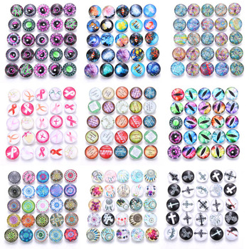 10pcs/lot Mixed Colors & Pattern 18mm Glass Snap Button Jewelry Faceted Glass Snap Fit Snap Earrings Bracelet Jewelry