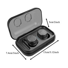 TWS-8 Earphone Bluetooth True Mini Wireless Earbuds Bass Bluetooth 5.0 Stereo 3d Headset With Charger Box Touch Control Earphone цена