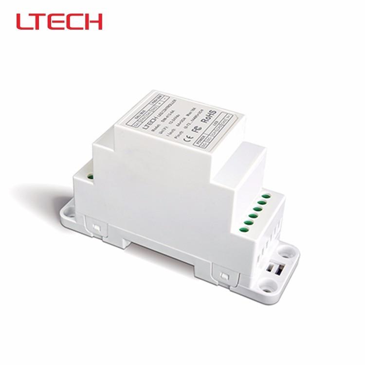 LTECH DIN-413-6A;DC12V-24V input CV DALI Dimming Driver Puch Dim(DIN rail/Screw dual-use);6A*3CH MAX 18A output ltech lt 403 6a dali led dimming driver dc12 24v input 6a 3ch max 18a output led controller for rgb led strip