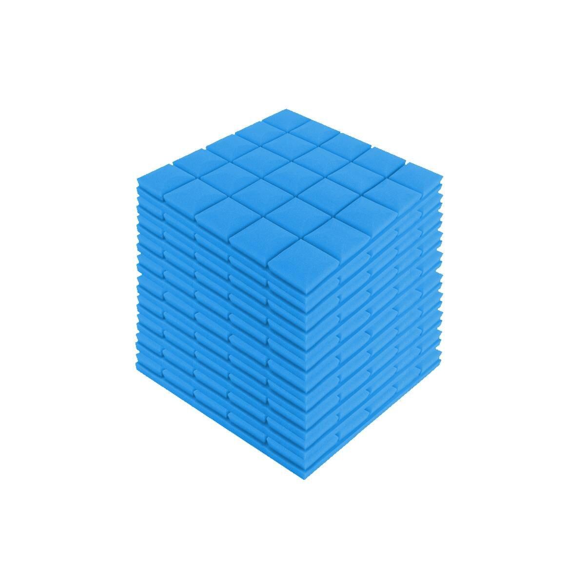 24 Uds. 4 colores 50x50x5cm estudio acústico insonorizado espuma absorción de sonido Panel de tratamiento azulejo cuña esponja protectora - 6