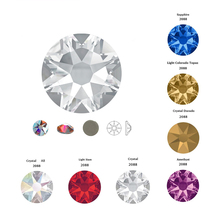 6A 2078 Hot Fix 8 big smal Crystal Multi Rainbow Rhinestones Glass Hotfix Strass Stone Crystals AB Iron on for Clothes Garment