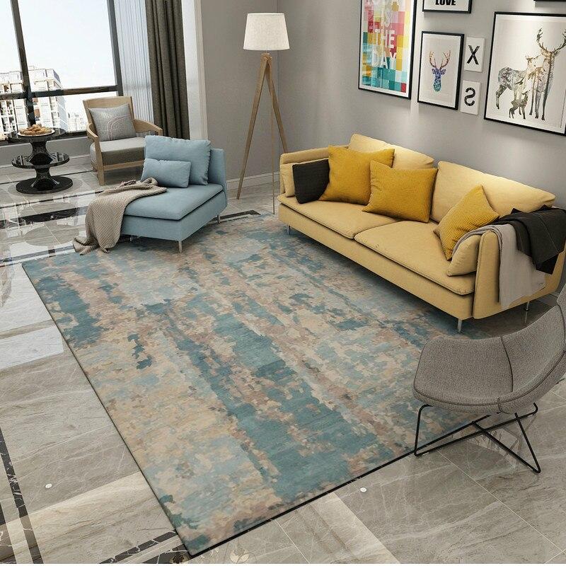 Abstrait encre moderne tapis Table tapis doux étude tapis de sol à côté des tapis pour salon décor à la maison tapis chambre canapé café