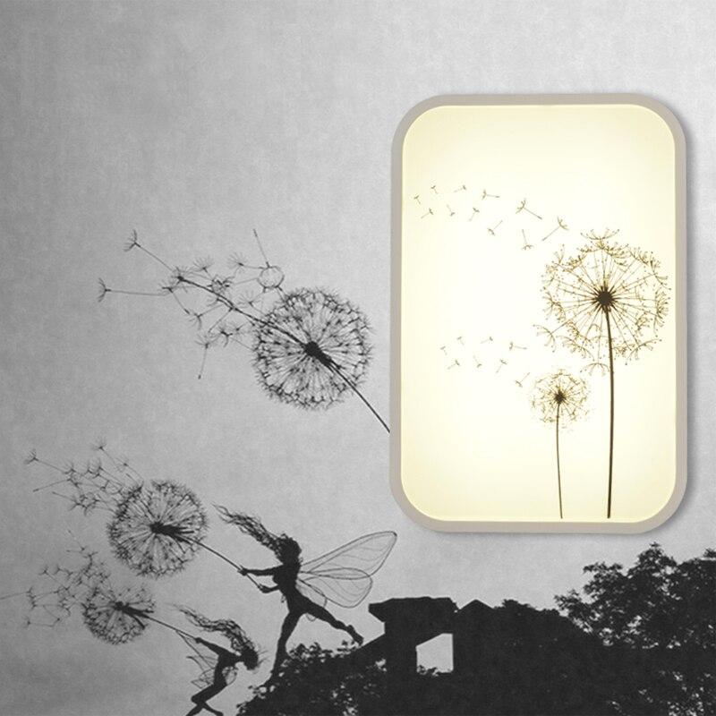 Moderne Style campagnard appliques murales fleur déco Maison chambre lampe acrylique abat-jour Led Wandlamp Luminaire AC220V