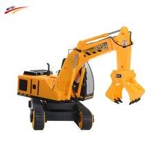 RC Truck Super Crawler Caterpillar Grapple 8 Channel wireless Radio Remote Control Construction Engineer Truck Toy