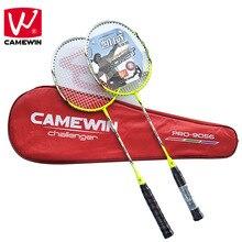 Camewin бренд из 2 предметов высококачественные взрослые углеродистая Бадминтон ракетка, Волокно Ракетки для бадминтона, в том числе Бадминтон сумка