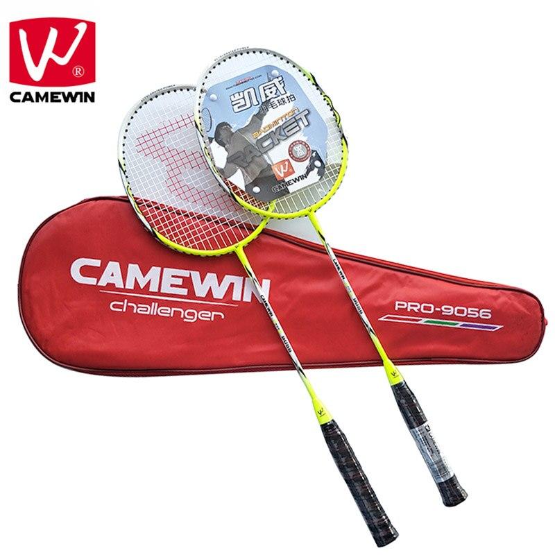 CAMEWIN Marque 2 pièces de Haute qualité Adultes Carbone Badminton Raquette, Fiber De Carbone Raquettes De Badminton, Y Compris Sac De Badminton