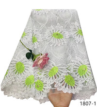 Wholesale african lace fabric With Rhinest design embroidery tulle hot selling french net for dress 1807