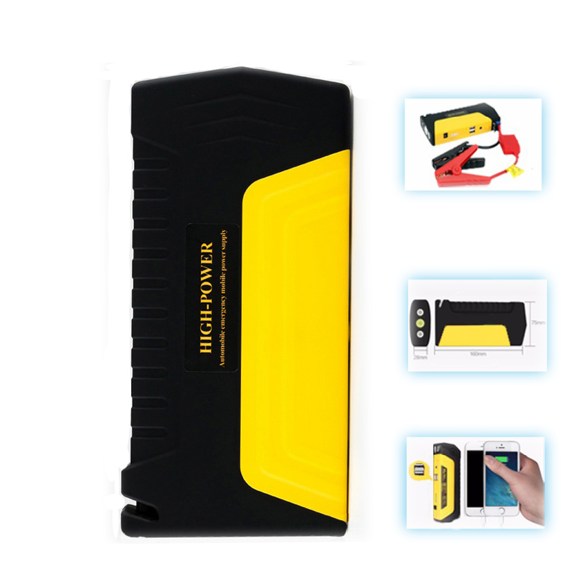 Prix pour LUNDA Haute Puissance 12 V 2A Voiture jump starter voiture-chargeur Portable Booster D'urgence portable Chargeur De Batterie power bank