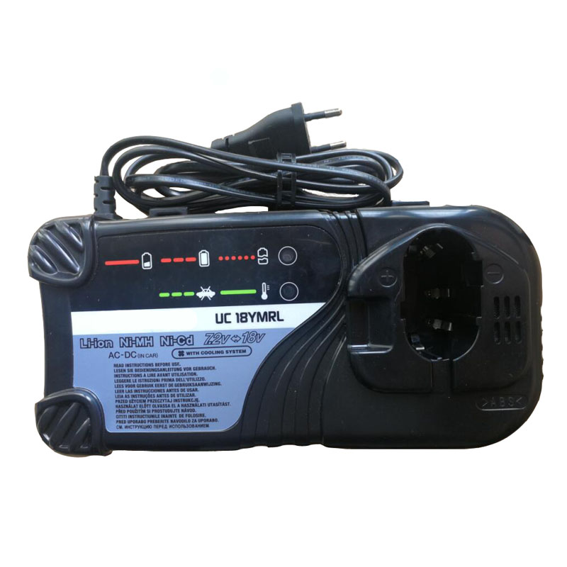 UC18YMRL Li-ion Ni-mh Ni-cd Battery Charger with Cooling System For Hitachi 7.2V - 18V Series Electric Drill ScrewdriverUC18YMRL Li-ion Ni-mh Ni-cd Battery Charger with Cooling System For Hitachi 7.2V - 18V Series Electric Drill Screwdriver