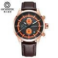 Ochstin marca de relojes de lujo de los hombres de moda a prueba de agua de cuarzo cronógrafo deportivo reloj de pulsera hombres reloj hombre montre homme