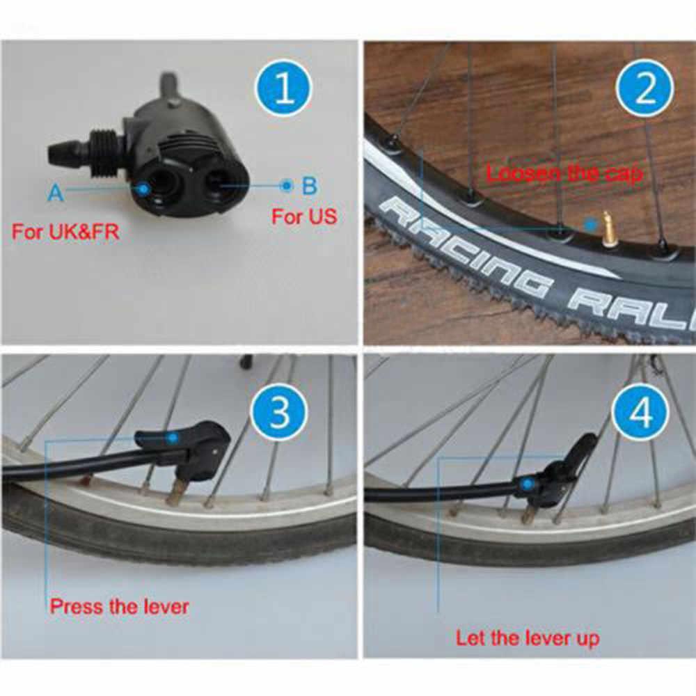 الدراجات التبعي دراجة الدراجة دورة الإطارات أنبوب استبدال بريستا المزدوج رئيس مضخة هواء محول صمام مفيدة دراجة مكون مضخة